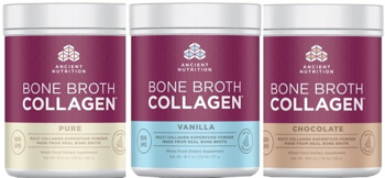 Jordan Rubins Bone Broth Collagen by Ancient Nutrition