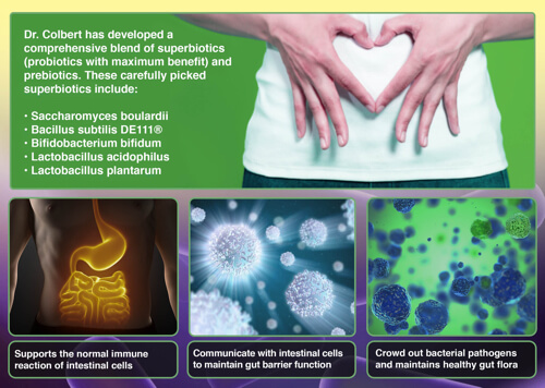 Probiotic plus prebiotic by Dr Colbert