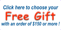 Free Gift on orders over $150!