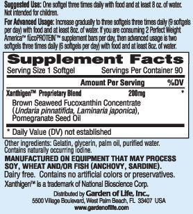 Fucothin Ingredients from Garden of Life