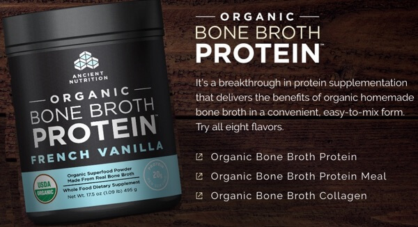 Organic Bone Broth Protein by Jordan Rubin and Dr Josh Axe