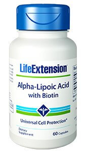 Life Extension Alpha-Lipoic Acid with Biotin  250 mg 60 Capsules
