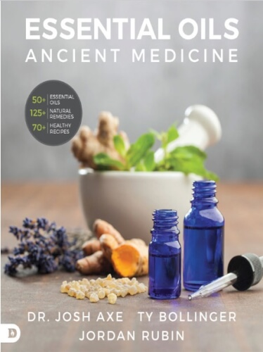 Ancient Nutrition Ancient Medicine Essential Oil Book by Josh Axe, Jordan Rubin and Ty Bollinger.