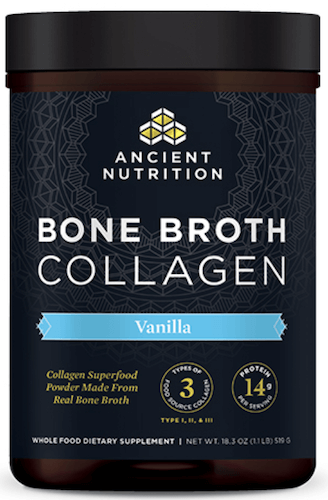 Ancient Nutrition Bone Broth Collagen Vanilla 30 Servings Powder
