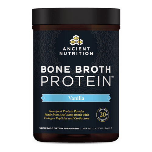 Ancient Nutrition Bone Broth Protein Vanilla 20 Servings