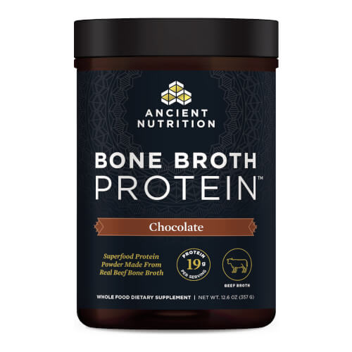 Ancient Nutrition Bone Broth Protein Beef Chocolate 15 Servings Powder