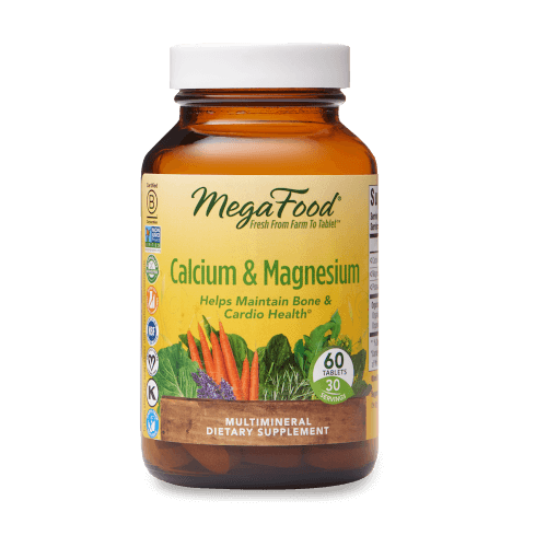 MegaFood Calcium and Magnesium  60 Tablets