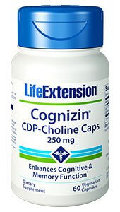 Life Extension Cognizin CDP Choline  250 mg 60 Capsules