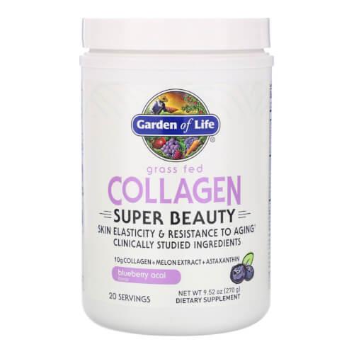 Garden of Life Collagen Beauty Blueberry Acai 20 Servings Powder
