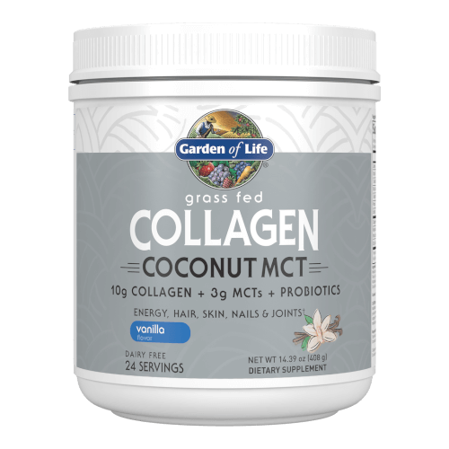 Garden of Life Collagen Coconut MCT Vanilla 24 Servings Powder
