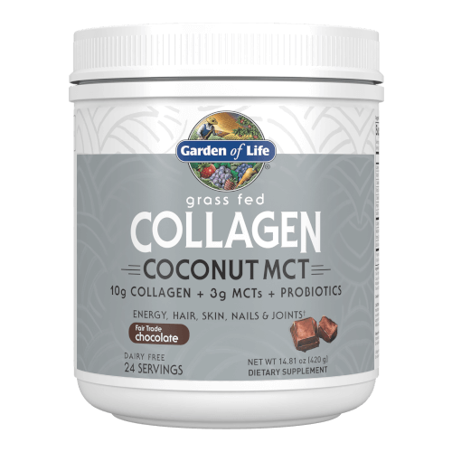 Garden of Life Collagen Coconut MCT Chocolate 24 Servings Powder