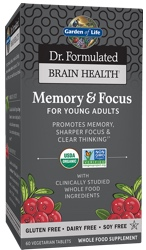Dr Formulated Brain Health Memory and Focus for Young Adults Page