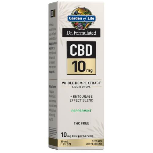 Garden of Life Dr Formulated CBD 10 mg Peppermint Drops 1 oz