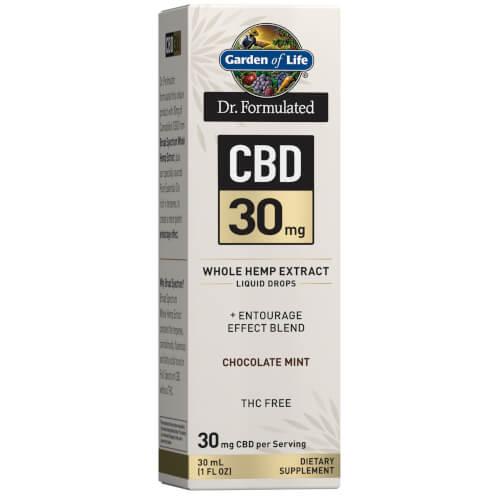Garden of Life Dr Formulated CBD 30 mg Chocolate Mint Drops 1 oz