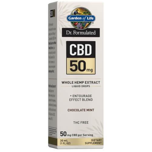 Garden of Life Dr Formulated CBD 50 mg Chocolate Mint Drops 1 oz