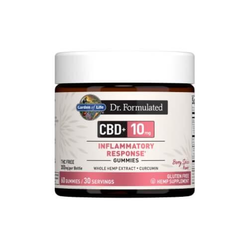 Garden of Life Dr Formulated CBD plus Inflammatory Response Berry Spice 10mg 30 Gummies