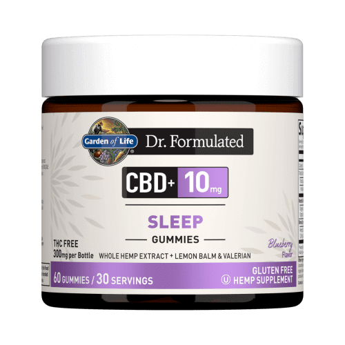 Garden of Life Dr Formulated CBD plus Sleep Blueberry 10 mg 30 Gummies
