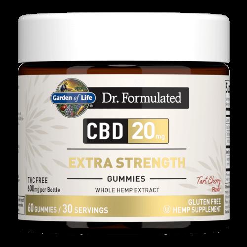 Garden of Life Dr Formulated CBD 20 mg Extra Strength Tart Cherry 60 Gummies