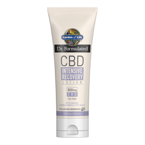 Garden of Life Dr Formulated CBD Lotion Intensive Recovery 2.5 fl oz
