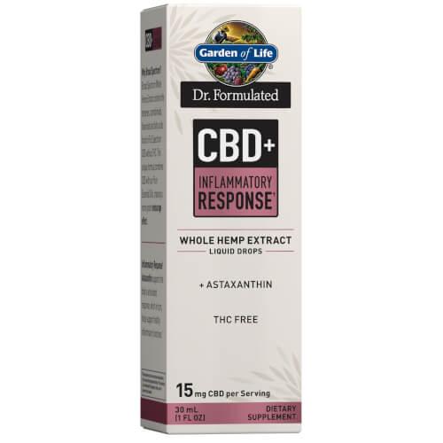 Garden of Life Dr Formulated CBD plus Inflammatory Response 15 mg Drops 1 oz