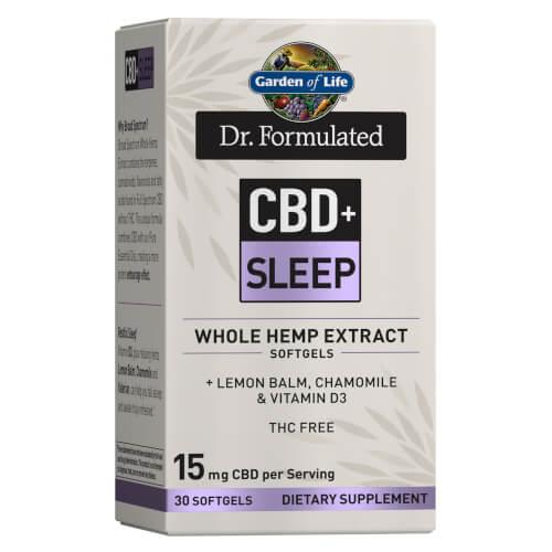 Garden of Life Dr Formulated CBD plus Sleep 15 mg 30 Softgels