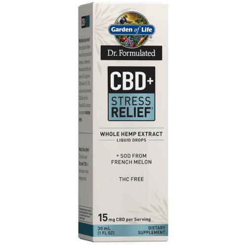Garden of Life Dr Formulated CBD plus Stress Relief 15 mg Drops 1 oz