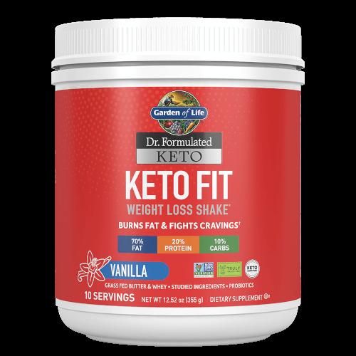 Garden of Life Dr Formulated Keto Fit Vanilla 12.52 oz Powder