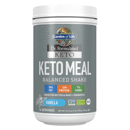 Garden of Life Dr Formulated Keto Meal Vanilla 23.7 oz Powder