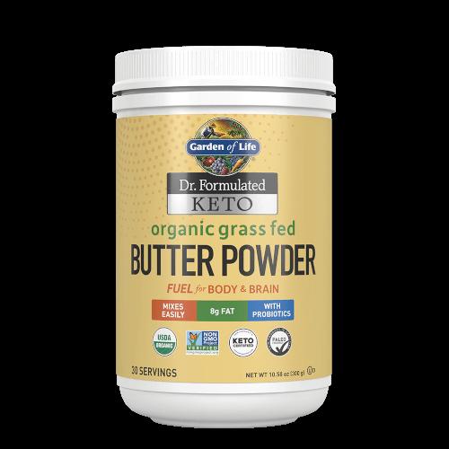 Garden of Life Dr Formulated Keto Organic Grass Fed Butter  10.58 oz Powder