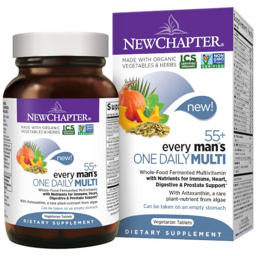 New Chapter Every Man One Daily 55 Plus  72 Tablets