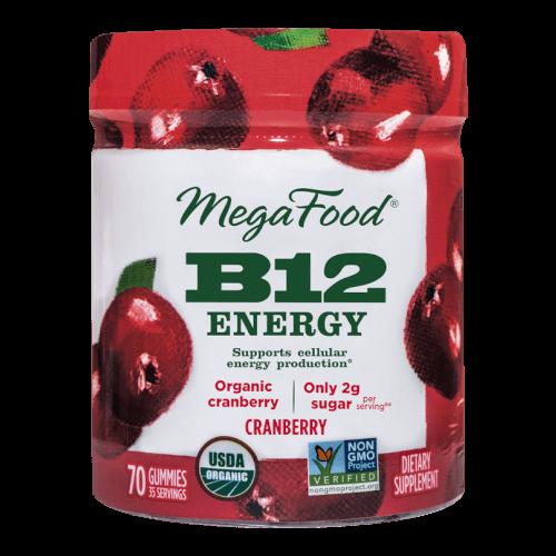 MegaFood Gummy B12 Energy Cranberry 70 Gummies