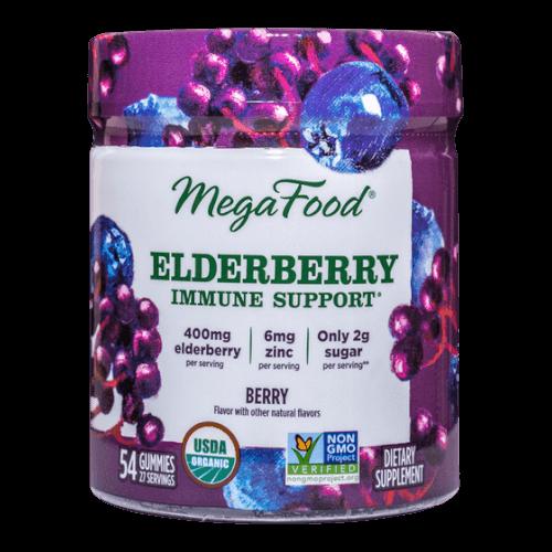 MegaFood Gummy Elderberry Immune Support  Berry 54 Gummies