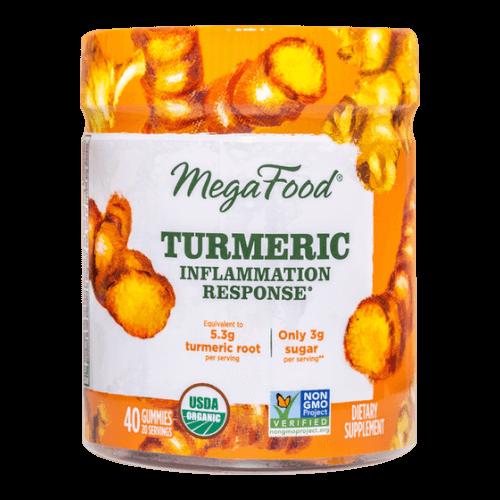 MegaFood Gummy Turmeric Inflammation Response Turmeric Spice 40 Gummies