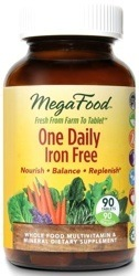 MegaFood Iron Free One Daily  90 Tablets