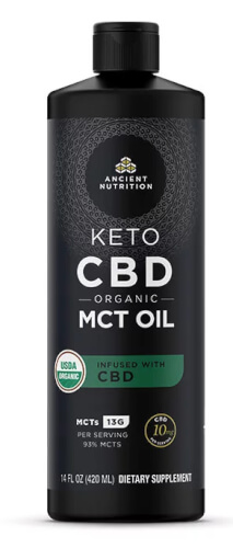 Ancient Nutrition Keto MCT with CBD  16 oz Oil