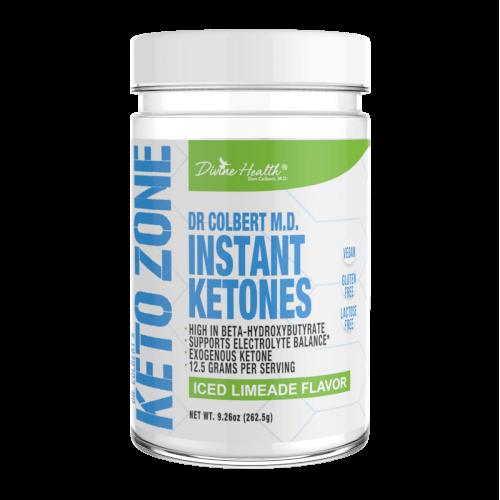 Dr Colbert Keto Zone Instant Ketones Limeade 21 Servings