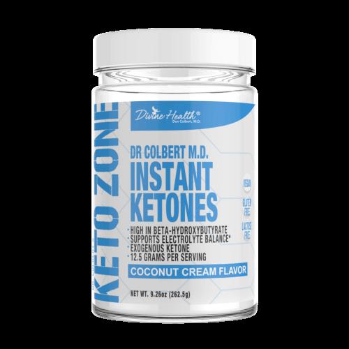 Dr Colbert Keto Zone Instant Ketones Coconut Cream 21 Servings