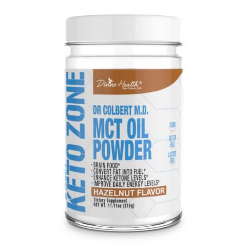 Dr Colbert Keto Zone MCT Oil Hazelnut Flavor 30 Servings Powder