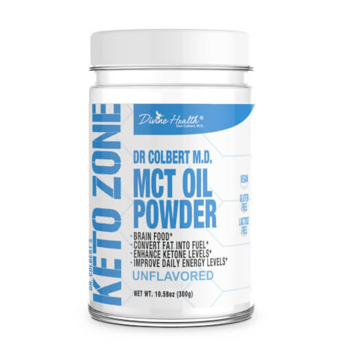 Dr Colbert Keto Zone MCT Oil Unflavored 30 Servings Powder