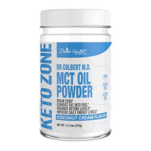 Dr Colbert Keto Zone MCT Oil Coconut Flavor 30 Servings Powder