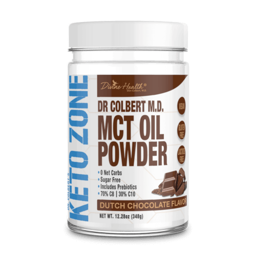 Dr Colbert Keto Zone MCT Oil Dutch Chocolate Flavor 30 Servings Powder