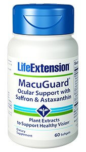 Life Extension MacuGuard Ocular Support with Astaxanthin  60 Softgels