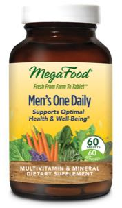 MegaFood Mens One Daily  60 Tablets