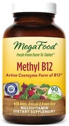 MegaFood Methyl B12  90 Tablets