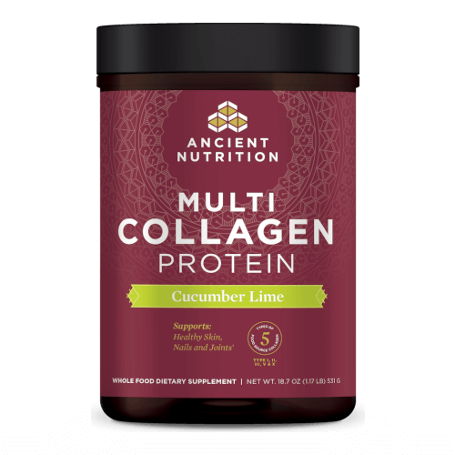 Ancient Nutrition Multi Collagen Protein Cucumber Lime 45 Servings Powder