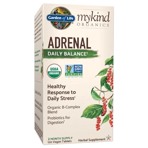 Garden of Life MyKind Organics Adrenal Daily Balance  120 Tablets