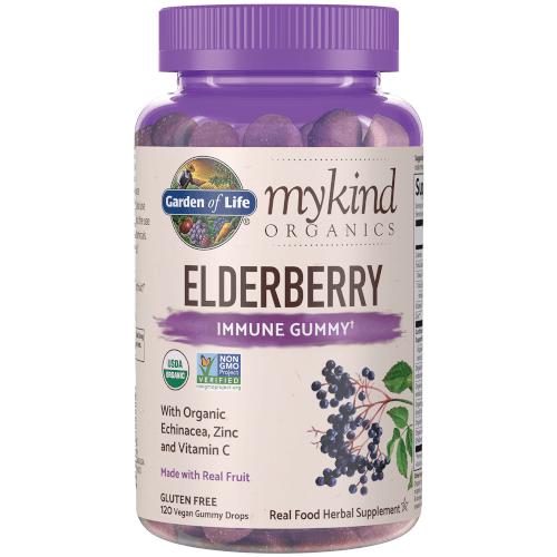 Garden of Life MyKind Organics Elderberry Immune Gummy  120 Gummies
