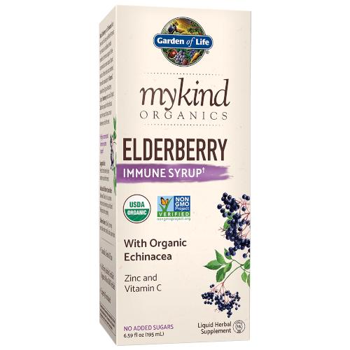 Garden of Life MyKind Organics Elderberry Immune Syrup  6.5 oz Liquid