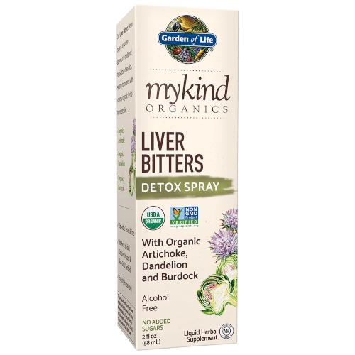 Garden of Life MyKind Organics Liver Bitters Spray  2 oz Liquid