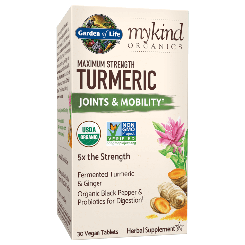Garden of Life MyKind Organics Maximum Strength Turmeric Joints and Mobility  30 Tablets